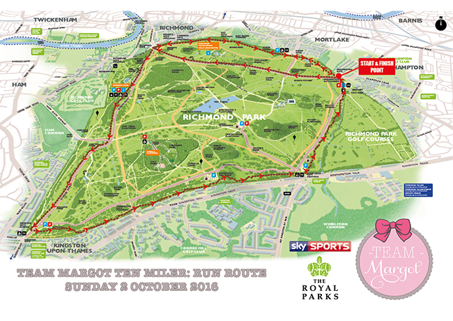 Richmond Park run route